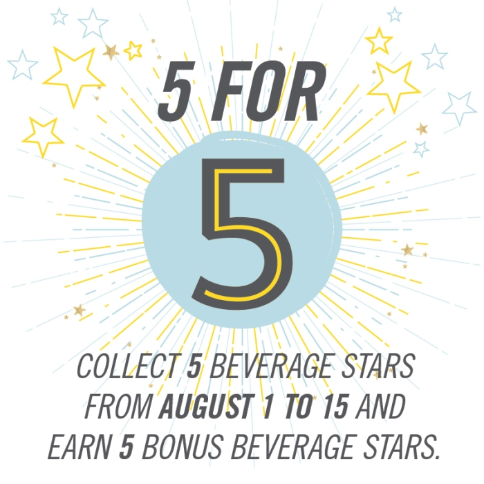 My Starbucks Rewards Five for Five Promo