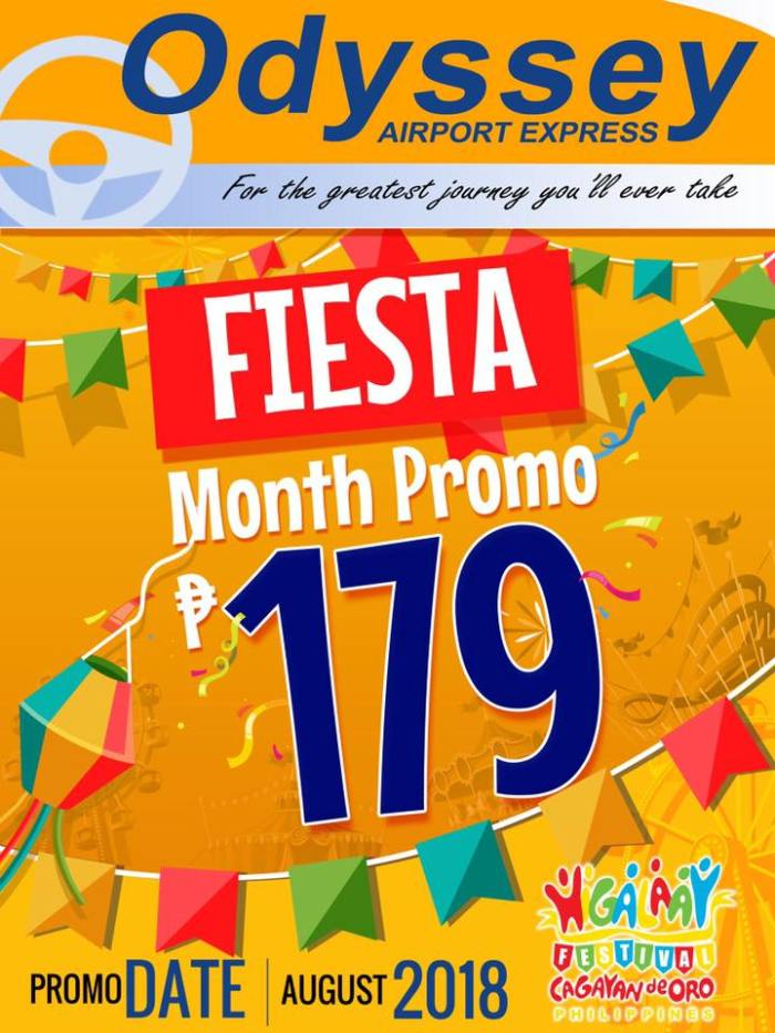 Odyssey Airport Express Fiesta Month Promo