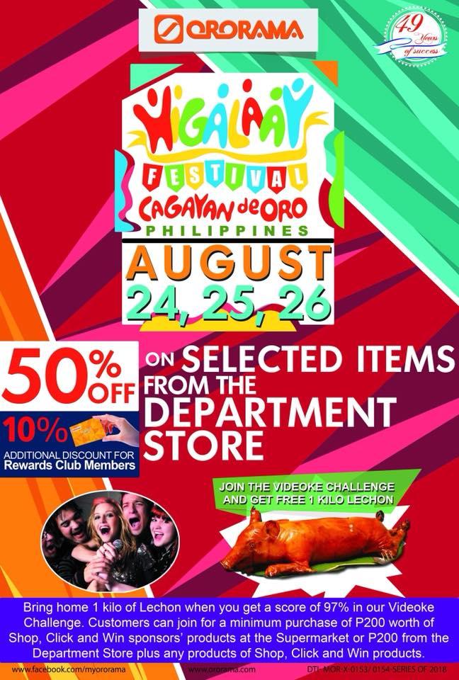 Ororama Higalaay Festival Sale