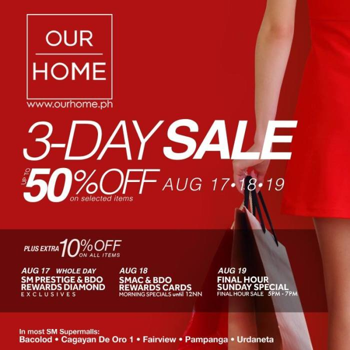 Our Home 3-Day Sale