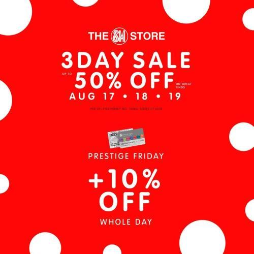SM Uptown 3-day sale Prestige Friday