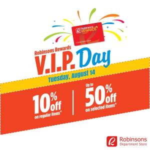 Robinson's department store VIP Day