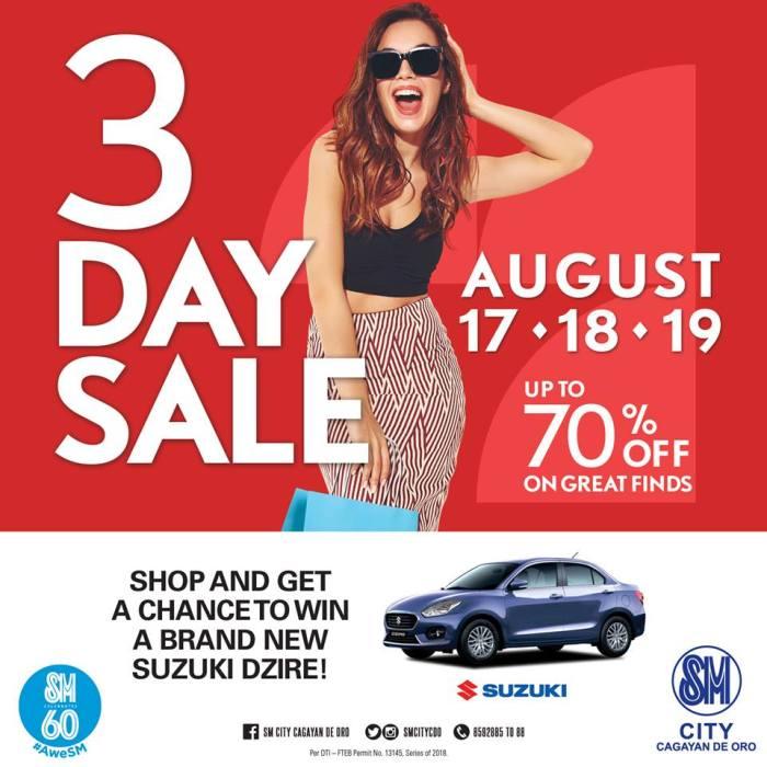 SM Uptown 3-Day Sale