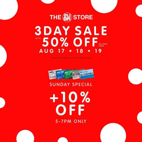 SM Uptown 3-day sale Sunday Special