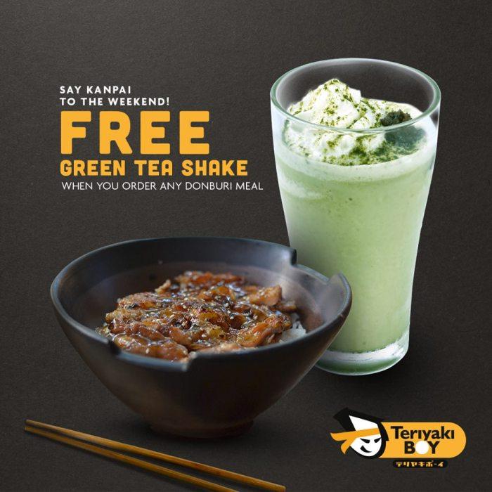 Teriyaki Boy FREE Green Tea Shake