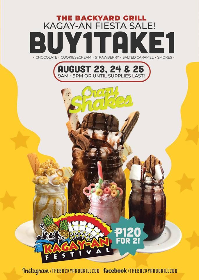 The Backyard Grill Kagay-an Fiesta Sale
