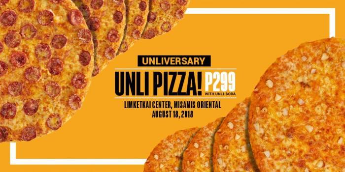 Unliversary Unli-Pizza at Yellow Cab Limketkai Center