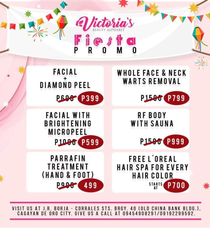 Victoria Beauty Alphabet Fiesta Promo