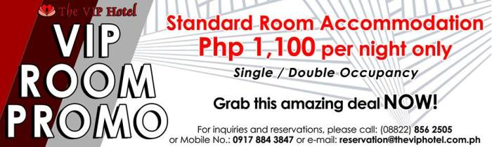 VIP Hotel VIP Room Promo