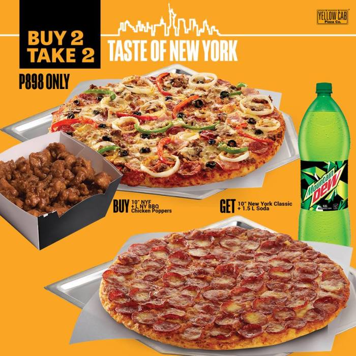 Yellow Cab Buy 2 Take 2 Taste of New York
