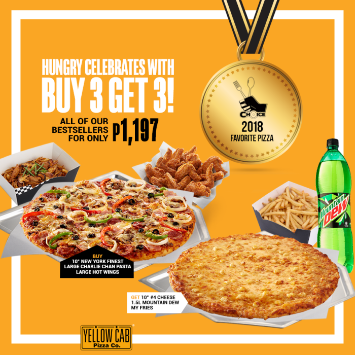 Yellow Cab Buy 3 Get 3