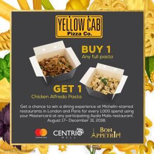Yellow Cab Buy 1 Get 1 Pasta