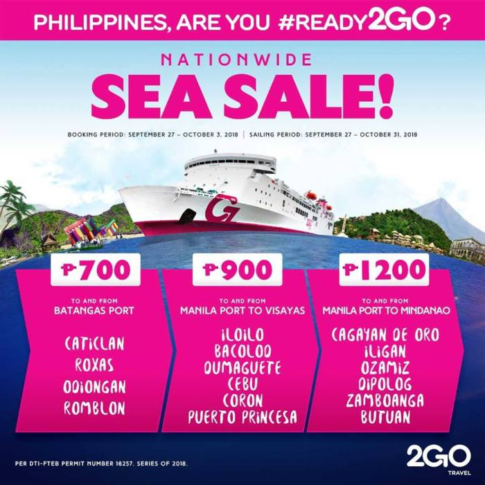 2GO Nationwide Sea Sale