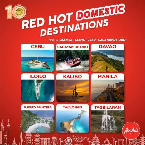 air asia red hot piso sale domestic destinations