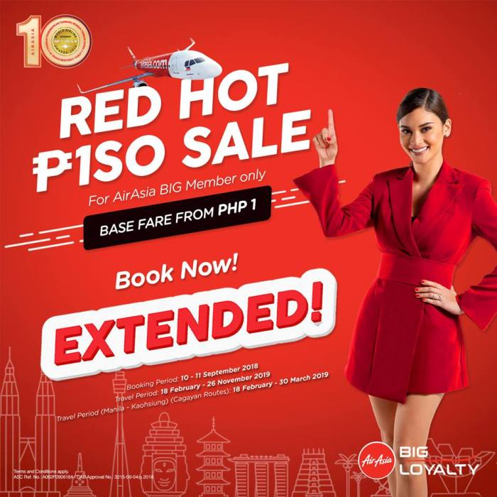 Air Asia Red Hot Piso Sale Extended