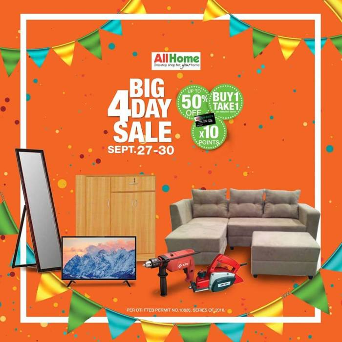 All Home 4 Day Sale Sq