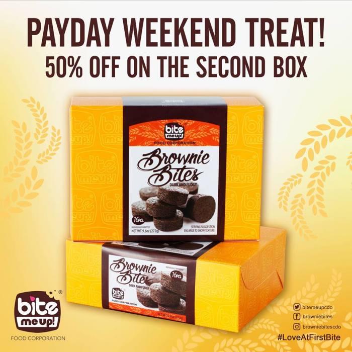 Bite Me Up Brownie Bites Payday Weekend Treat