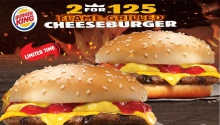 Burger King 2 Flame-Grilled Cheeseburgers for P125 FI