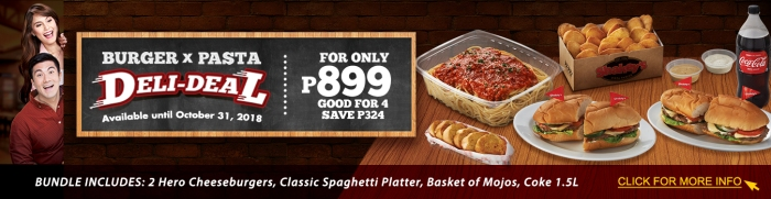 Burger X Pasta Deli-deal cover