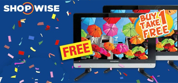 Shopwise 20riffic Buy 1 Take 1 TV