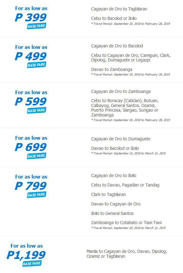Cebu Pacific Air Hub Exclusive Seat Sale all flights