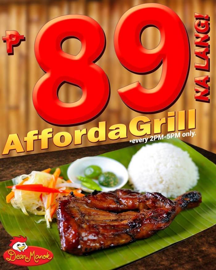 Dear Manok Afforda Grill promo