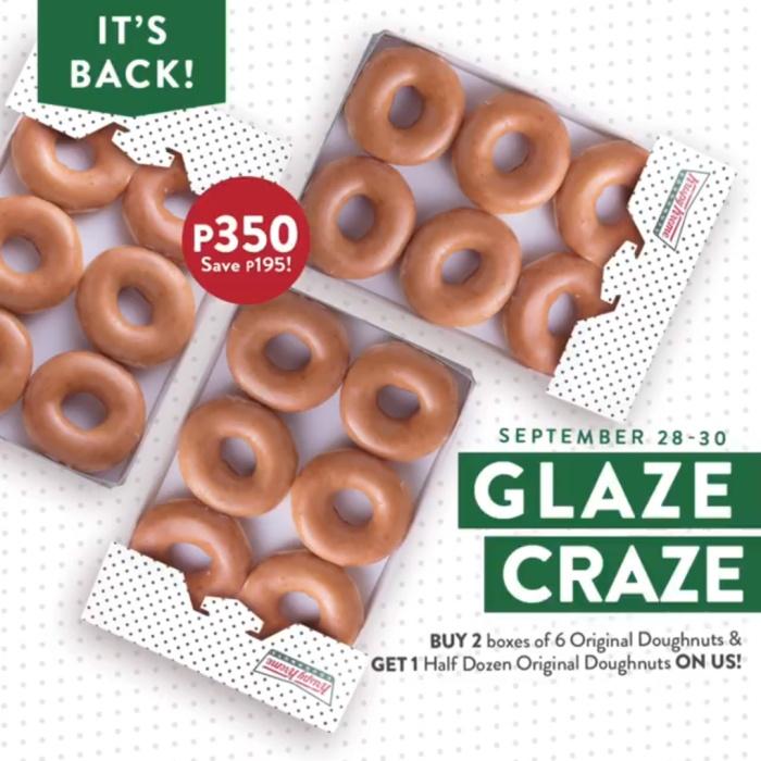 Krispy Kreme Glaze Craze sep28-30