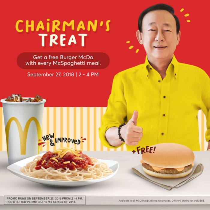 McDonald's Chairman's Treat