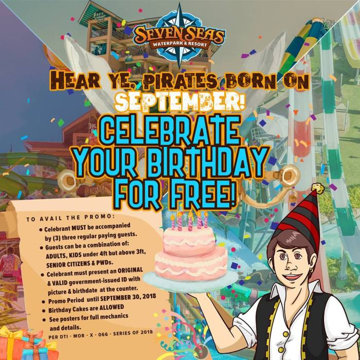 Seven Seas Waterpark September Birthday Blowout