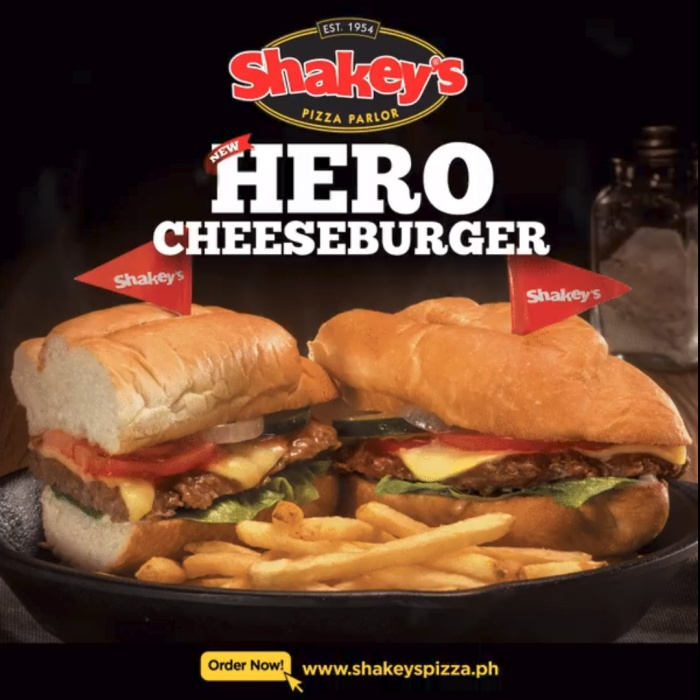 Shakey's hero cheeseburger