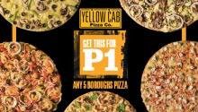 Yellow Cab New 5 Boroughs Pizza for ONE PESO FI