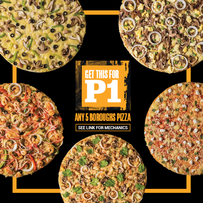 Yellow Cab New 5 Boroughs Pizza for ONE PESO