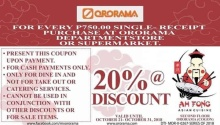 Ah Fong Asian Cuisine Ororama Pre-Holiday Offer FI