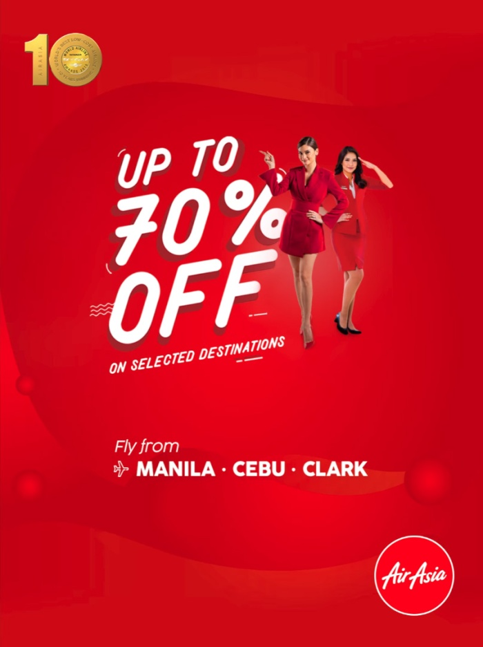 AirAsia up to 70 percent off