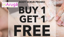 Aruga Aesthetic Center Buy 1 Get 1 Body Scrub Promo FI
