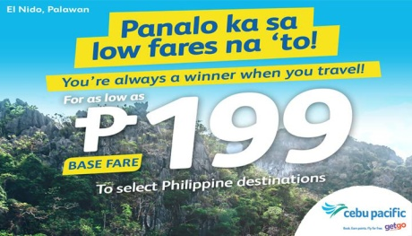 As low as P199 Base Fare at Cebu Pacific Airs Seat Sale FI