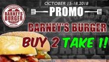 Barney's Burger Buy 2 Take 1 Promo FI