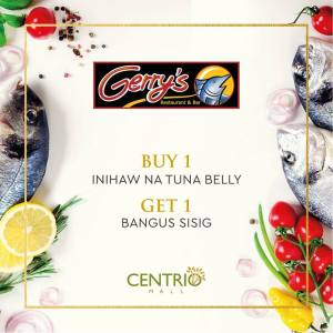 Buy 1 Take 1 on Seafood Dishes Gerrys