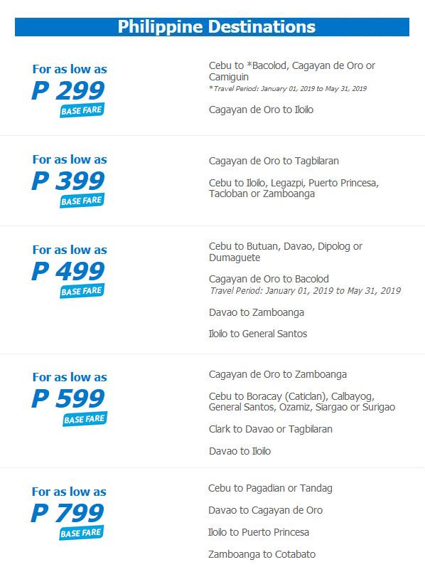 Cebu Pacific Early Christmas Seat Sale flights CDO