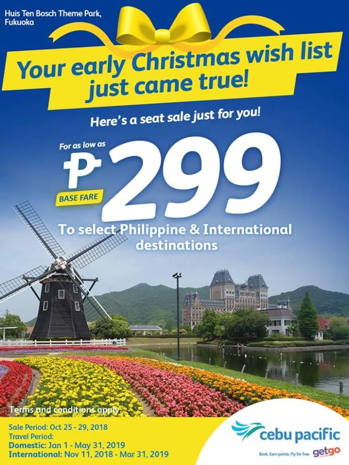 Cebu Pacific Early Christmas Seat Sale | CDO Promos