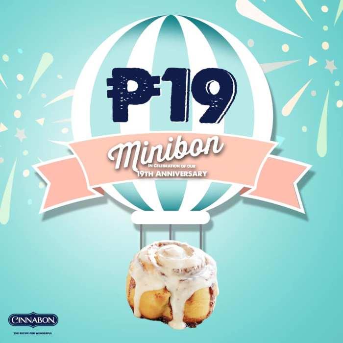 Cinnabon Philippines 19th Anniversary Promo