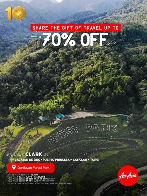 air asia dahilayan forest park