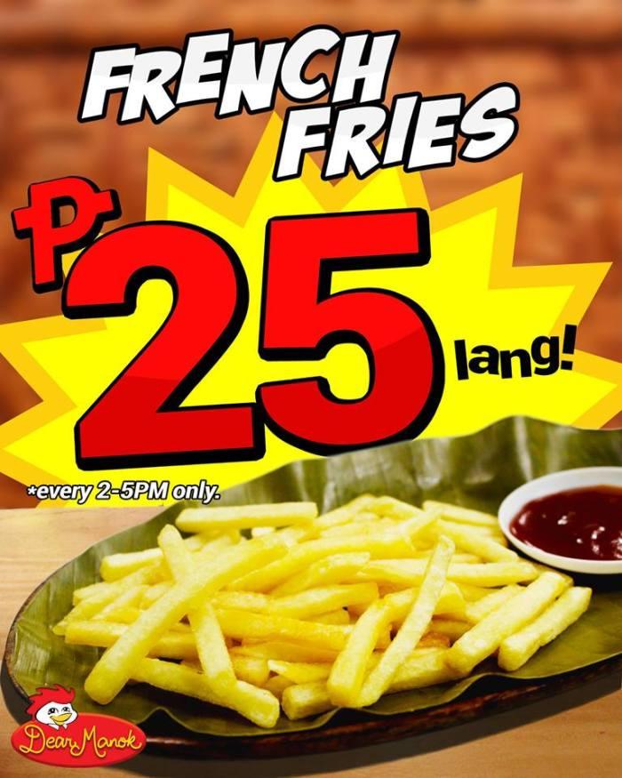 Dear Manok Grilled Chicken Restaurant P25 French Fries