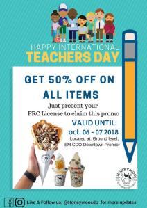 Honeymoo Teacher's Day Promo