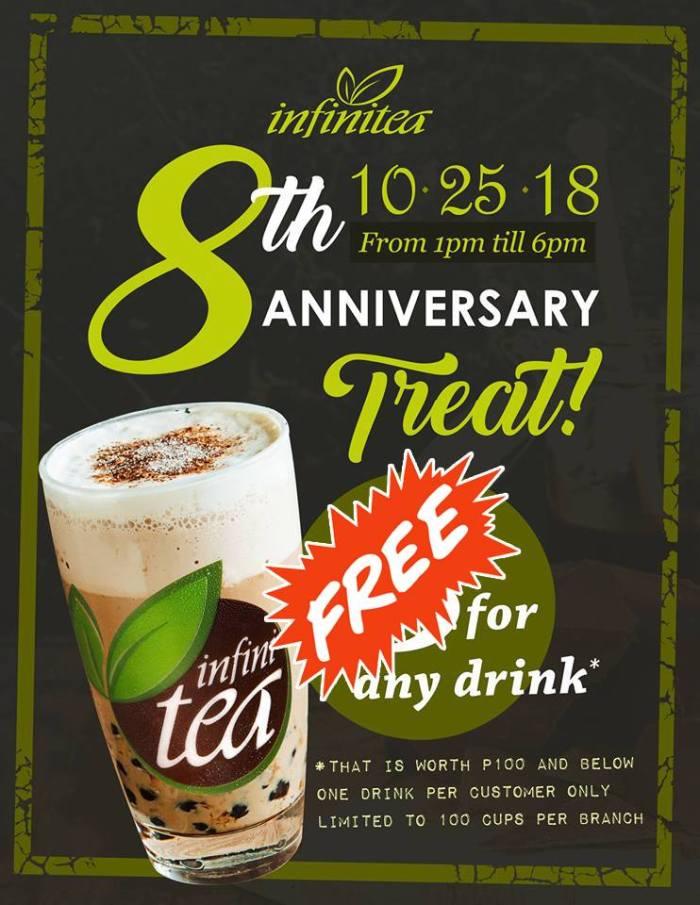 Infinitea 8th Anniversary Treat - FREE Drink