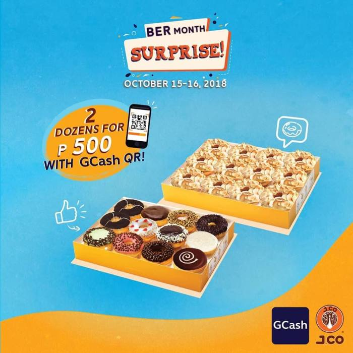 J.CO and Gcash Ber Month Surprise