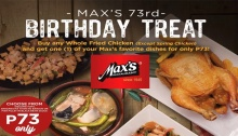 Max's Restaurant 73rd Birthday Treat SM FI