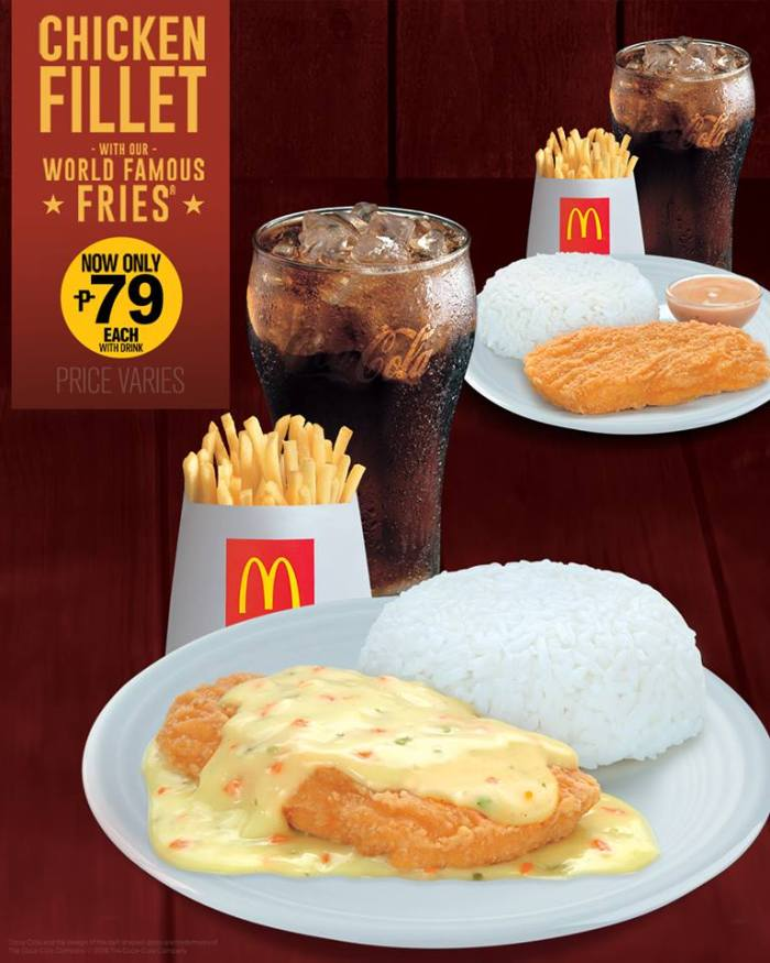 McDonald's Chicken Fillet and World Famous Fries Meal P79 Promo FB