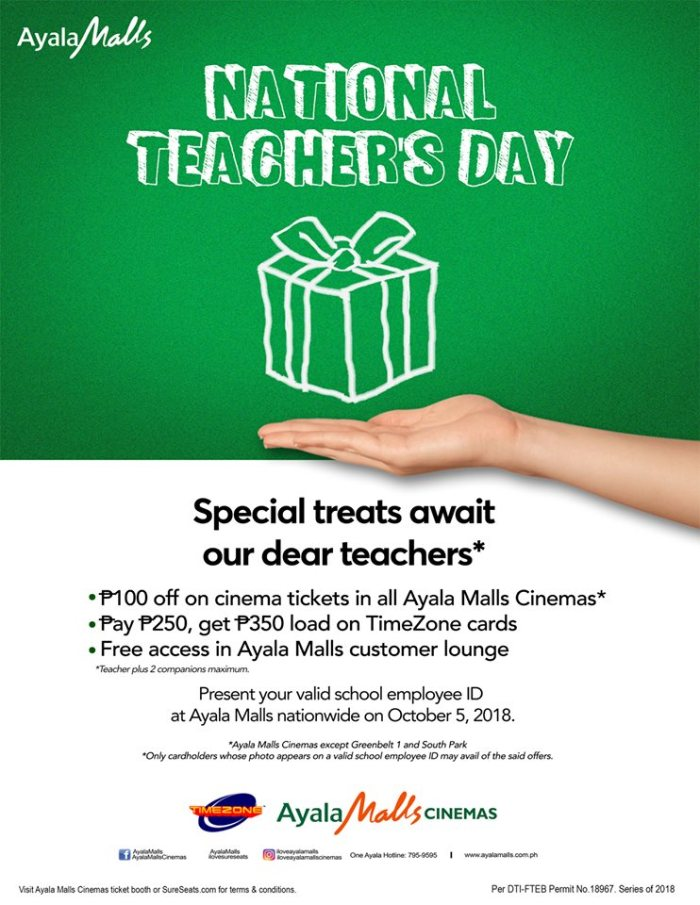 National Teacher's Day at Ayala Malls Cinemas