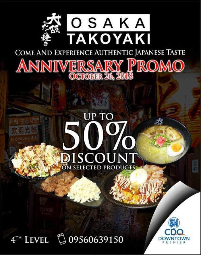 Osaka Takoyaki SM Downtown Premier Anniversary Promo